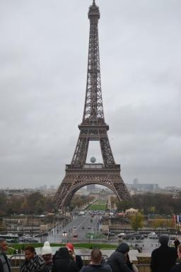 Eiffel Tower in the rain.