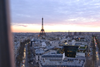 The view from the Arc de Triomphe.
