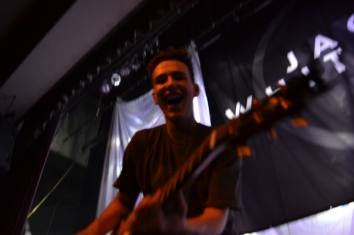 Jacob Whitesides makes funny faces at the camera at Paris concert.