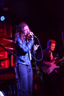 BØRNS sings with his backing band in December 2015.