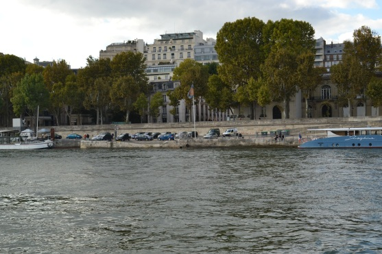 The banks of the Seine River.