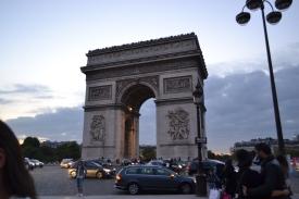 Arc de Triomphe at rush hour.